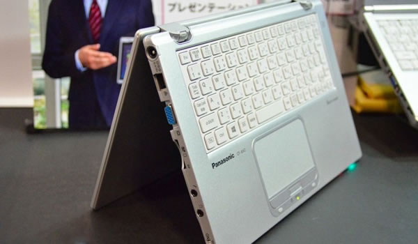 Panasonic presenta su nuevo Ultrabook hibrido con pantalla plegable y Windows 8