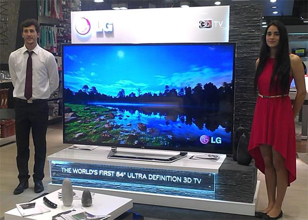La Smart TV 84LM9600 de 84 pulgadas de LG costara 20 mil dólares