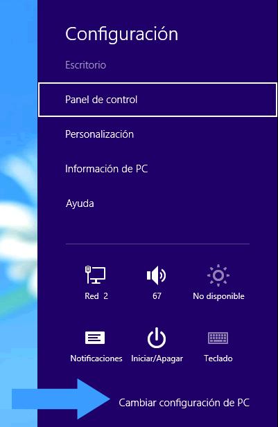 Ingresar a la BIOS en un PC con Windows 8