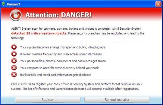 Windows 8 ya está aquí, pero también los antivirus falsos que también actualizan sus técnicas de infección
