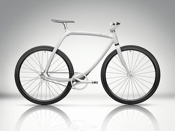 Bicicleta Rizoma 77/011 construida en fibra de carbono con un diseño elegante