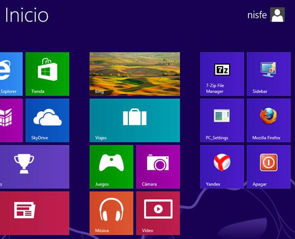 Windows 8: Cambiar el número de filas que se muestra en la pantalla inicio