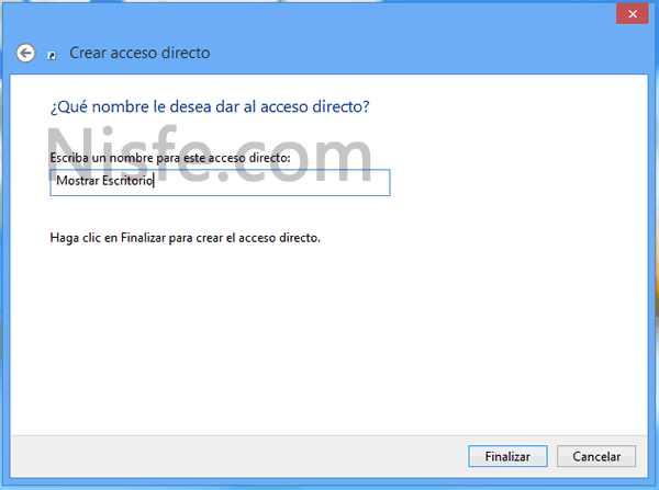 Como agregar el icono de mostrar escritorio en la barra de tareas de Windows 8
