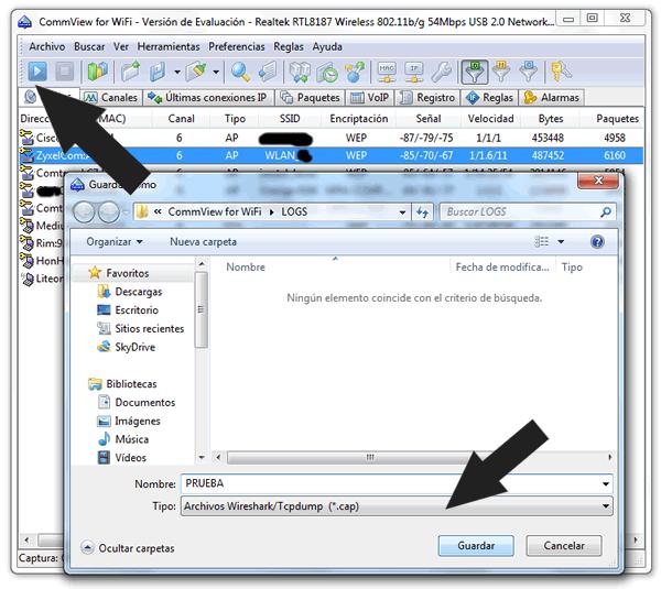 Contraseña WiFi desde Windows de redes WEP WLAN_XX y Jazztel_XX