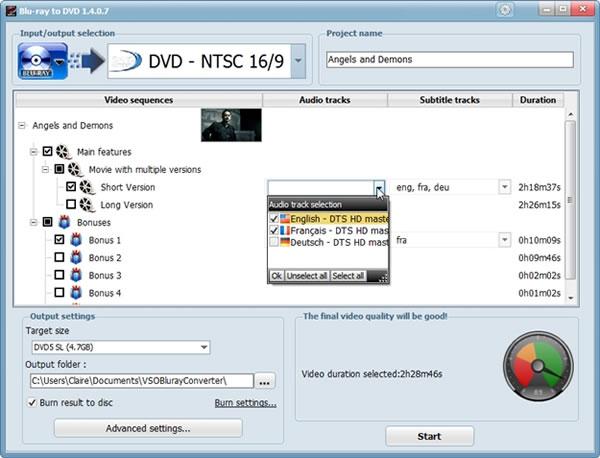 Convertir un disco Blu-ray a formato DVD utilizando Blu-ray to DVD Converter