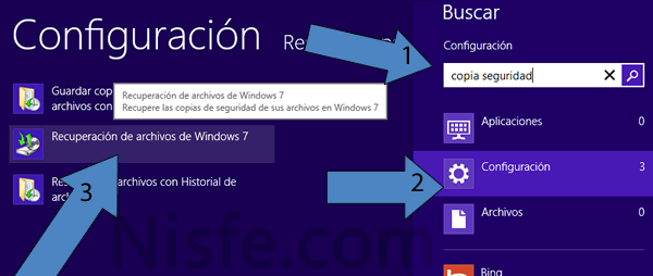 Copia de seguridad de Windows 8