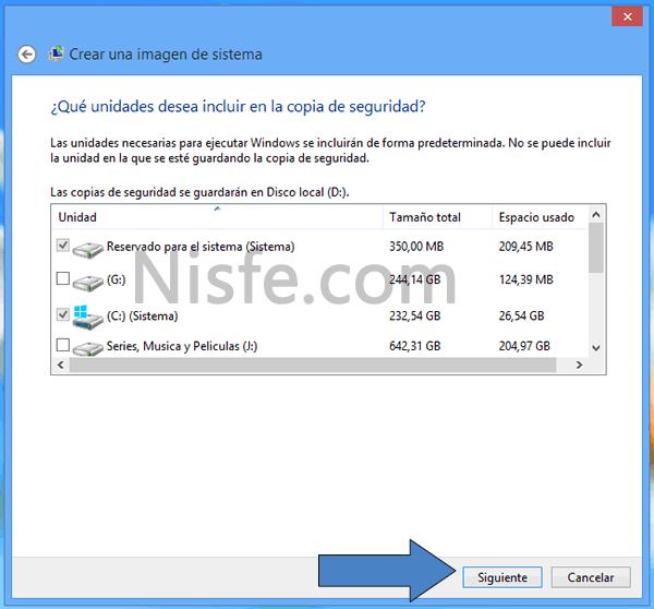 """Como hacer una copia de seguridad de Windows 8 con su propia herramienta """"Crear una imagen del sistema"""""""