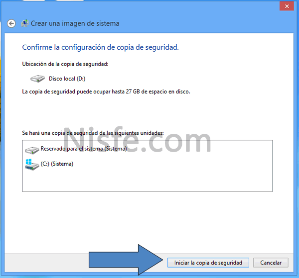 Como hacer una copia de seguridad de Windows 8 con su propia herramienta