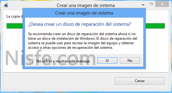 Como crear una copia de seguridad de Windows 8
