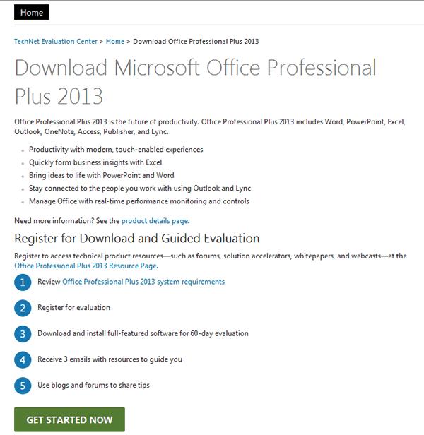 Descargar Office 2013 de forma gratis para usarlo por 60 días