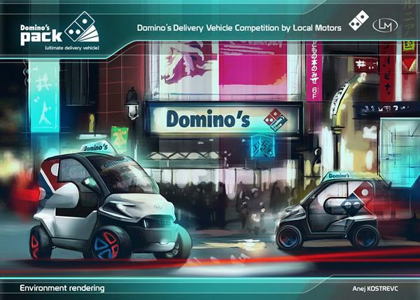 Domino's Pizza y el diseño de un nuevo coche para repartir Pizza