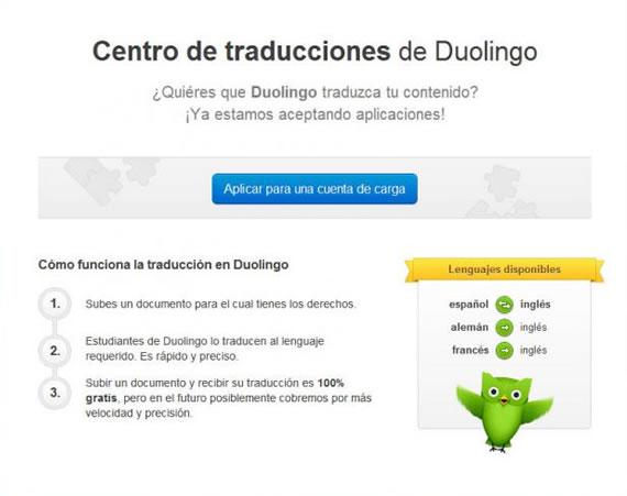 Traducir con Duolingo