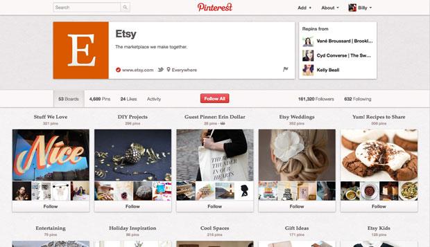 Pinterest pone a disposición páginas para empresas e instituciones