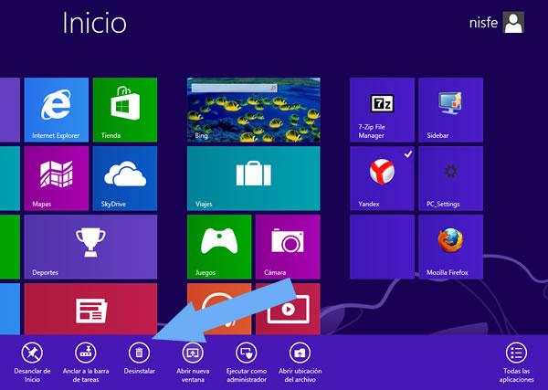 Windows 8: Impedir que las aplicaciones sean desinstaladas desde la pantalla de Inicio
