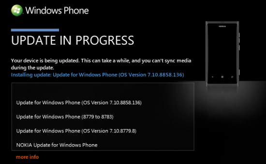 Actualización Windows 7.8 para el Nokia Lumia 800 y 900 disponible