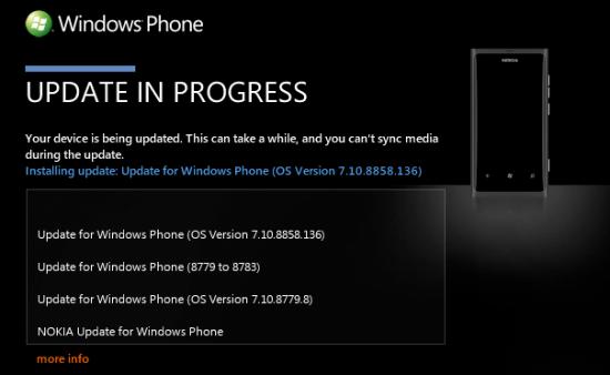 Actualización Windows 7.8 para los Lumia 800 y 900