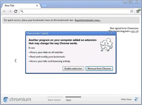 Chrome con bloqueo para las extensiones que se instalan de forma silenciosa