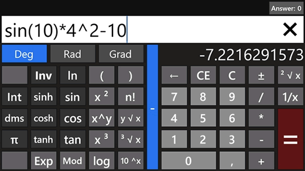 Calculadora para el entorno Metro de Windows 8