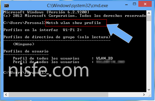 Borrar el historial WiFi de Windows 8
