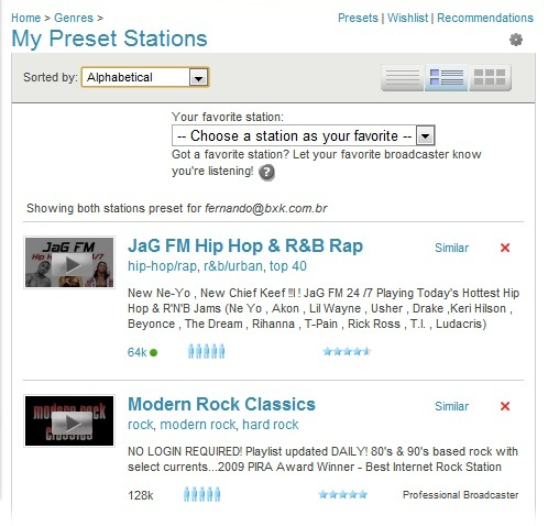 Escuchar música de radios online de todo el mundo, Live 365