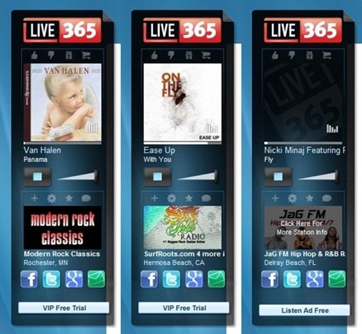 Escuchar música de radios online de todo el mundo, Live365