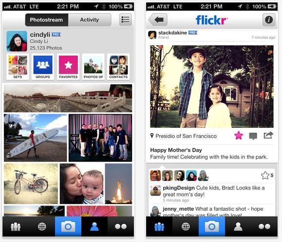 Flickr se actualiza con una nueva versión web y una app para el iPhone