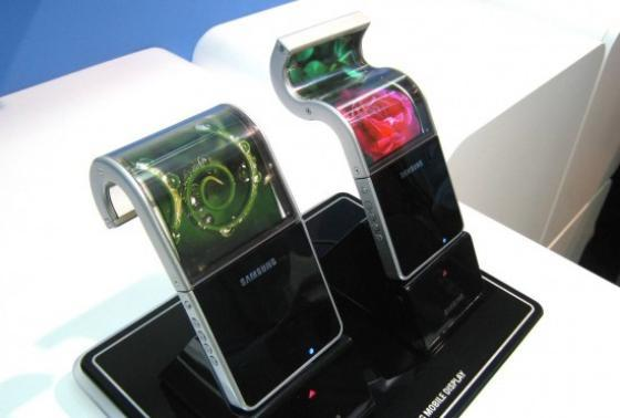 Pantallas flexibles de Samsung