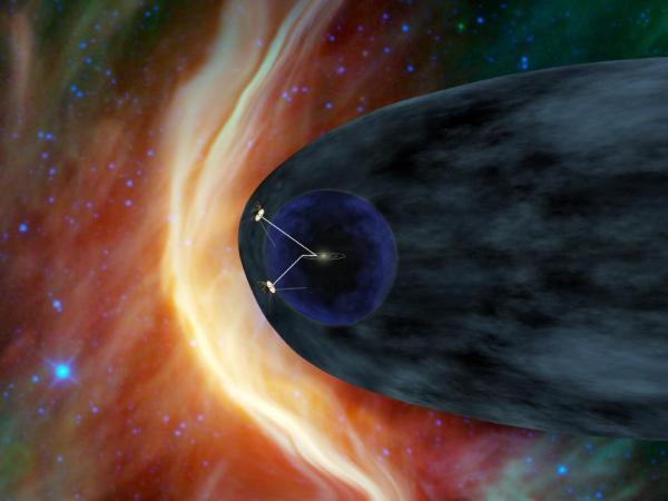 La nave espacial Voyager 1 en los confines del Sistema Solar