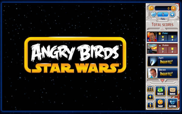 Angry Birds Star Wars para Facebook en versión beta