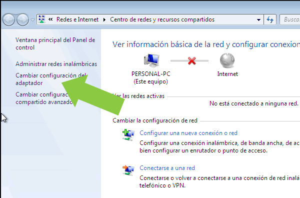Como habilitar deshabilitar adaptador wifi de Windows 7
