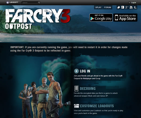 Far Cry 3 Outpost – aplicación para iOS y Android