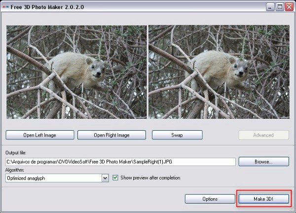Crear imágenes y fotografías en 3D con dos fotografías