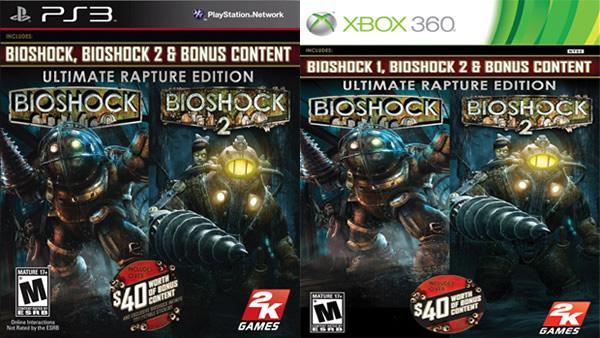 Pack de BioSHock Ultimate Rapture Edition contiene los dos primeros juegos