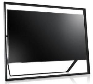 Televisor 4K S9 UHD de 85 pulgadas de Samsung con un diseño flotante