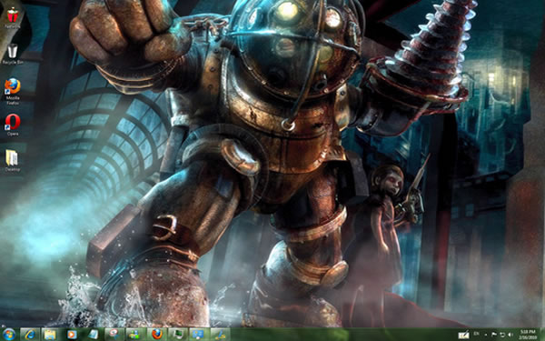Tema para Windows: Bioshock Windows Theme With Sounds, Icons and Cursors
