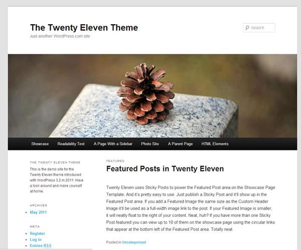 Como agregar un sidebar  en el tema Twenty Eleven - WordPress