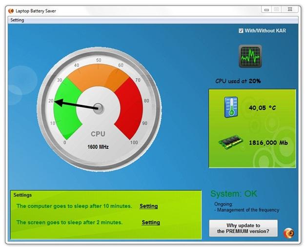Administrar y optimzar la batería de tu ordenador portátil - Laptop Battery Optimizer