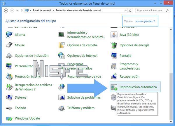 Windows 8: Como desactivar y activar la reproducción automática de una memoria USB
