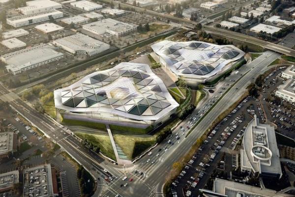 Futuro cuartel general de Nvidia tendrá la forma de una nave extraterrestre