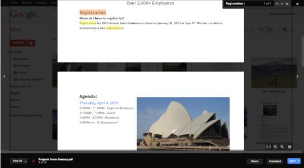 Vista previa Google Drive