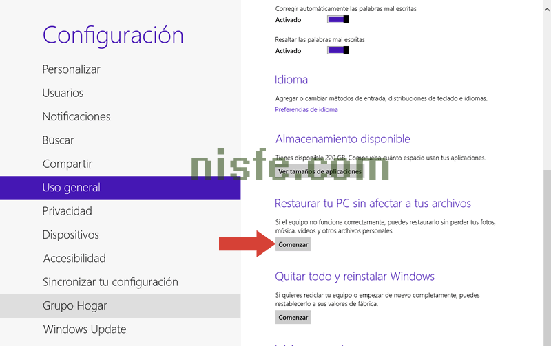 Como restaurar Windows 8 a su estado original sin instalar [Video]
