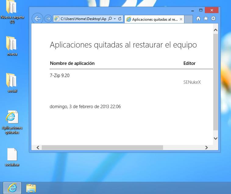 Restaurar Windows 8
