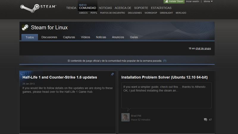 Valve ha lanzado de forma oficial la plataforma Steam para Linux