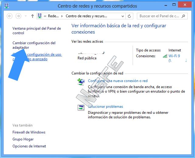 Primera forma para conocer mi IP desde Windows 8