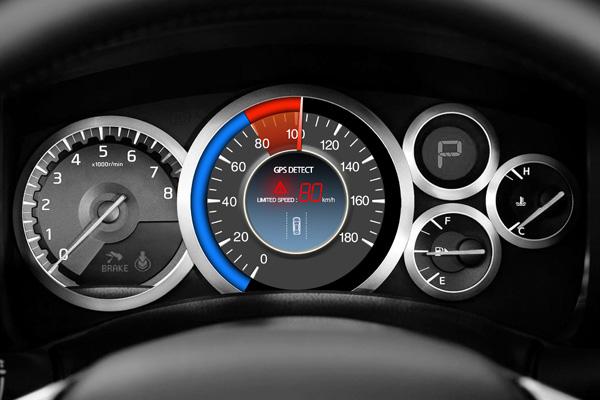 Velocímetro para el coche que te avisa cuando superas el límite de velocidad