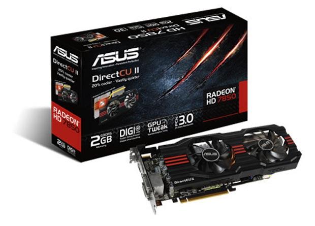 Nueva versión de la tarjeta gráfica Radeon HD 7850 de Asus