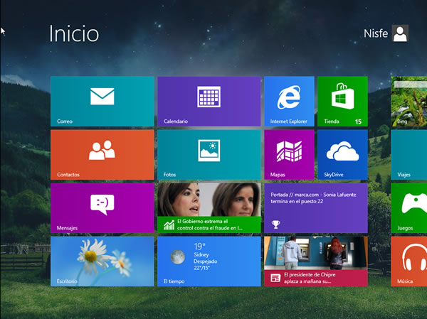 Como cambiar el fondo de la pantalla de inicio de Windows 8 con Decor 8
