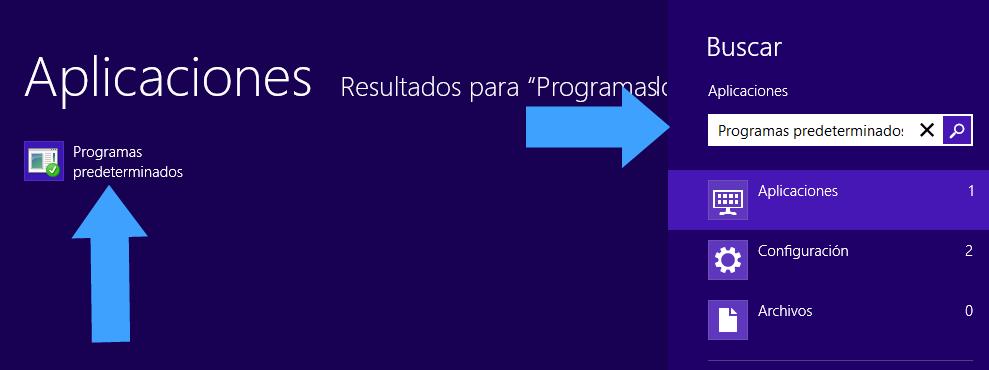 Escriber Programas predeterminados