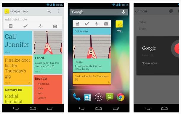 Google Keep, una aplicación para crear anotaciones y competir con Evernote