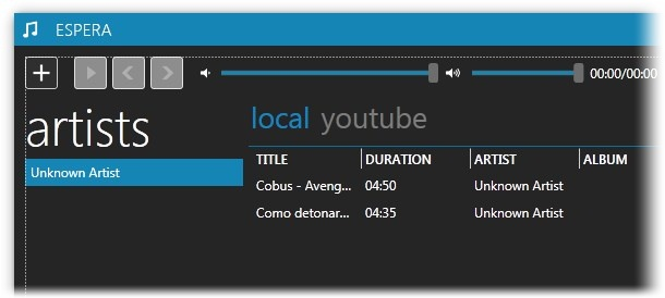 Reproductor de audio para el PC que se integra con YouTube – Espera